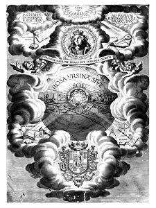 Half-Title of Rosa Ursina, by Christopher Scheiner, 1630