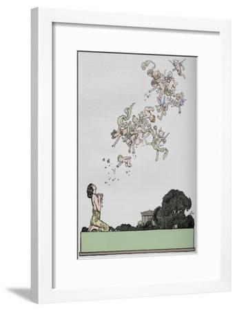 'Half title to A Midsummer Night's Dream', 1914-W Heath Robinson-Framed Giclee Print