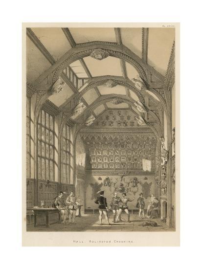 Hall, Adlington, Cheshire-Joseph Nash-Giclee Print