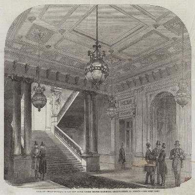 Hall and Great Staircase of the New Junior United Service Club-House, Charles-Street, St James'S--Giclee Print