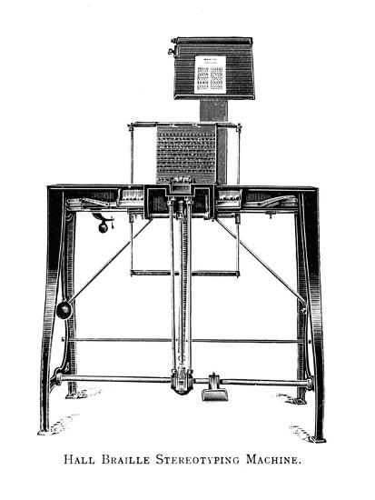 'Hall Braille Stereotyping Machine', 1919-Unknown-Giclee Print
