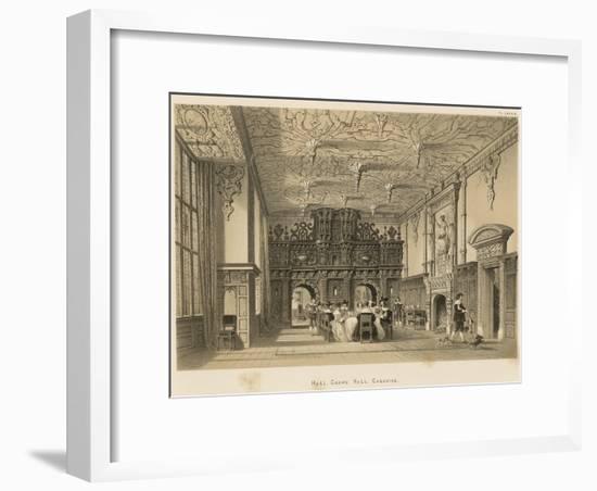 Hall, Crewe Hall, Cheshire-Joseph Nash-Framed Premium Giclee Print
