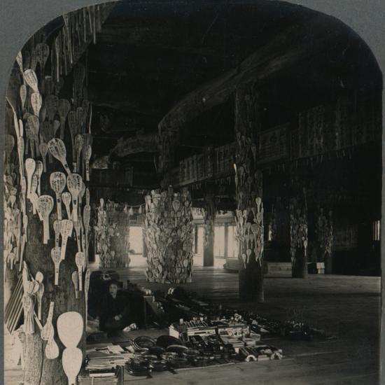 ''Hall of a Thousand Mats, whereJapanese Soldiers hang Lucky Spoons, Myajima, Japan', 1905-Unknown-Photographic Print