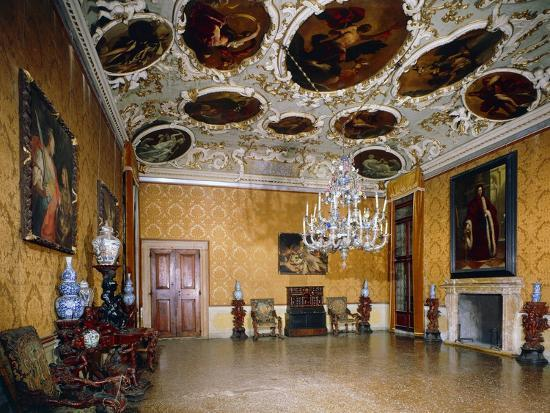 Hall of Brustolon, Ca' Rezzonico, Venice, Veneto, Italy--Giclee Print