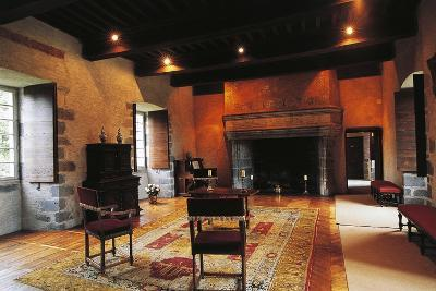 Hall of Chateau of Conros, Arpajon-Sur-Cere, Auvergne, France--Photographic Print
