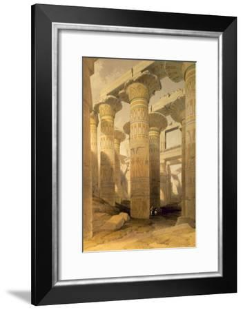 Hall of Columns, Karnak, from Egypt and Nubia, Vol.1-David Roberts-Framed Giclee Print