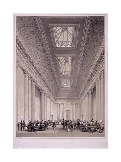 Hall of Commerce, Threadneedle Street, London, C1850-George Hawkins-Giclee Print