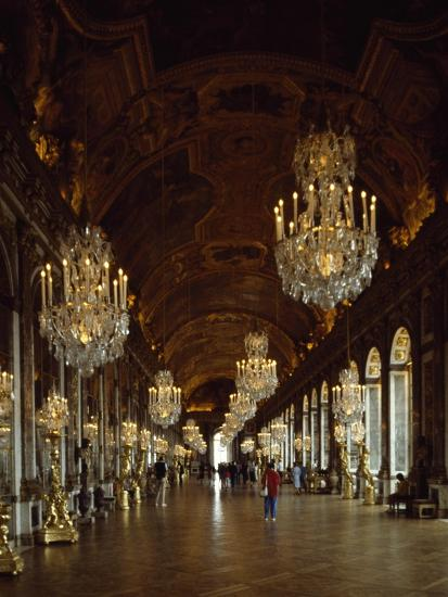 Hall of Mirrors, Palace of Versailles , France--Giclee Print
