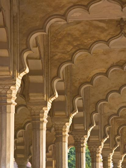 Hall of Public Audiences, Agra Fort, Agra, Uttar Pradesh, India-Walter Bibikow-Photographic Print