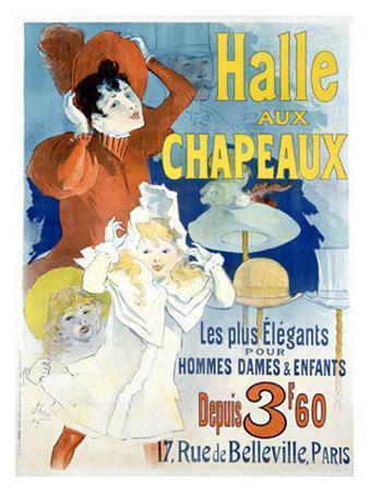 Halle aux Chapeaux, Depuis 3F60-Jules Ch?ret-Giclee Print