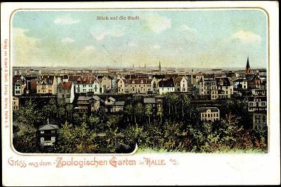 Halle Saale, Panoramablick Auf Die Stadt Mit Zoologischen Garten--Giclee Print