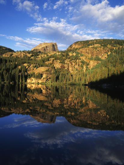 Hallett Peak in Bear Lake, Rocky Mountains National Park, Colorado, USA-Adam Jones-Photographic Print