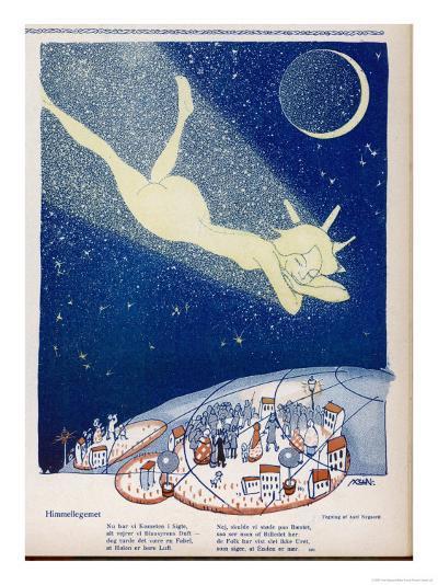 Halley's Comet Soars Over Denmark-Axel Nygaard-Giclee Print