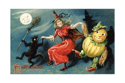Hallowe'en Postcard--Giclee Print