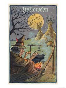 Hallowe'en Witch Works Her Magic