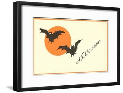 Halloween, Bats--Framed Art Print