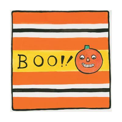 Halloween Boo Pumpkin-Melissa Averinos-Art Print