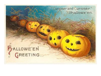 Halloween, Curiouser and Curiouser, Jack O'Lanterns--Art Print