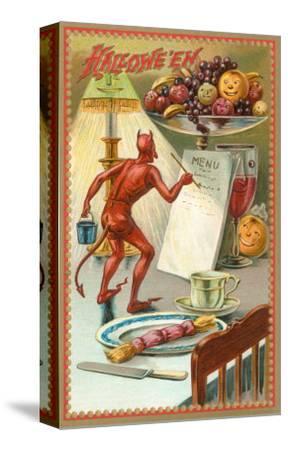 Halloween, Devil Writing Menu