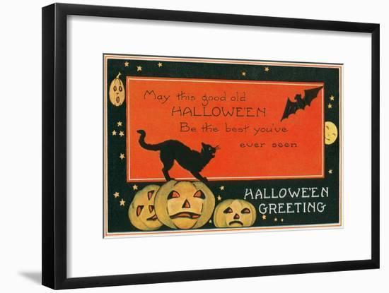 Halloween Greeting, the Best--Framed Art Print