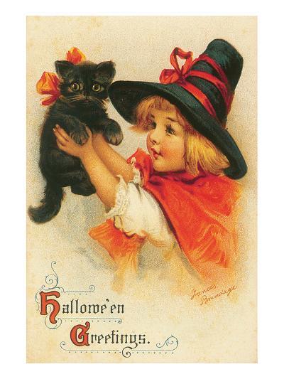 Halloween Greetings-Frances Brundage-Art Print