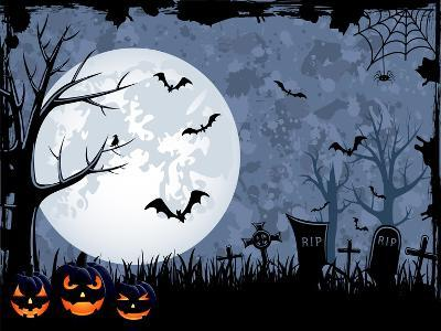 Halloween Illustration-losw-Art Print
