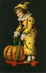 Halloween, Little Clown and Jack O'Lantern