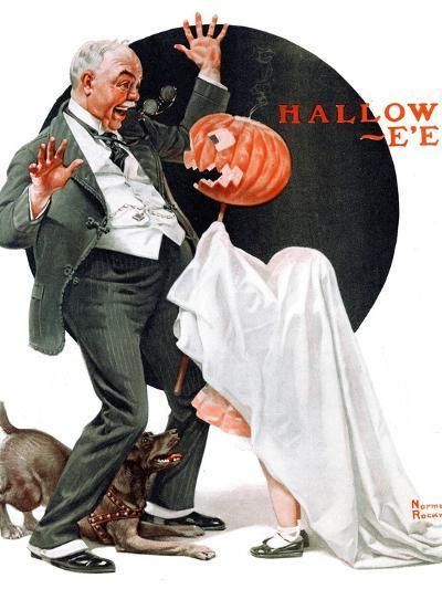 """Halloween"", October 23,1920-Norman Rockwell-Giclee Print"