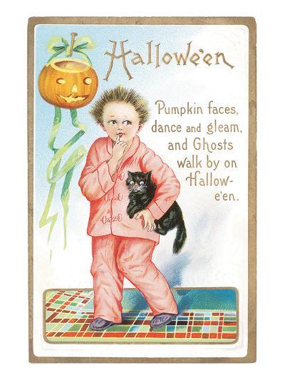 Halloween Pumpkin Faces--Art Print