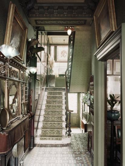 Hallway of 18 Stafford Terrace, Kensington and Chelsea, London--Photographic Print