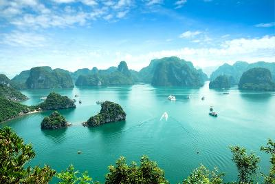 Halong Bay in Vietnam. Unesco World Heritage Site.-cristaltran-Photographic Print