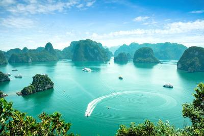 Halong Bay in Vietnam. Unesco World Heritage Site.-cristaltran-Photographic Print