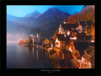 Halstatt, Austria-John Lawrence-Art Print