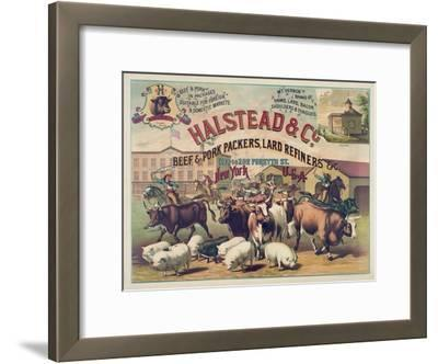 Halstead and Co. Beef and Pork Packers, Lard Refiners and Co.