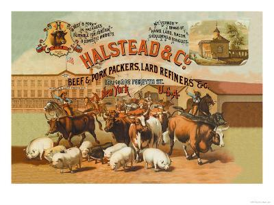 Halstead and Company Beef and Pork Packers-Richard Brown-Art Print