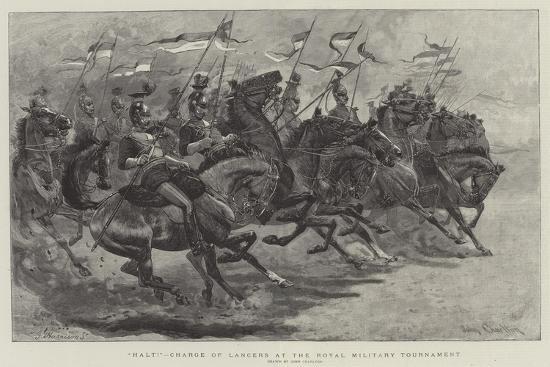 Halt!, Charge of Lancers at the Royal Military Tournament-John Charlton-Giclee Print