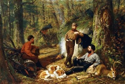 Halt on the Portage, 1871-Arthur Fitzwilliam Tait-Giclee Print
