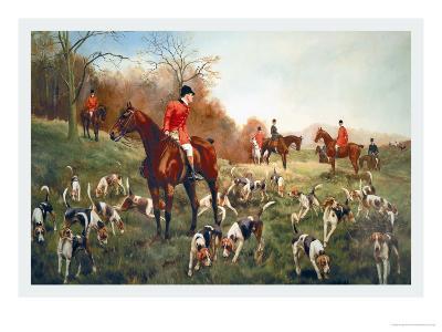 Halted-George Derville Rowlandson-Art Print