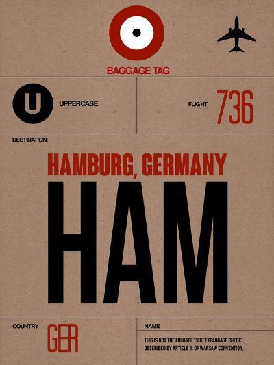 HAM Hamburg Luggage Tag 1-NaxArt-Art Print