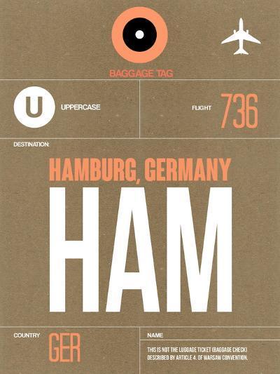 HAM Hamburg Luggage Tag 2-NaxArt-Art Print