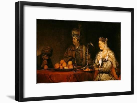 Haman and Ahasuerus at the Feast of Esther-Aert de Gelder-Framed Giclee Print