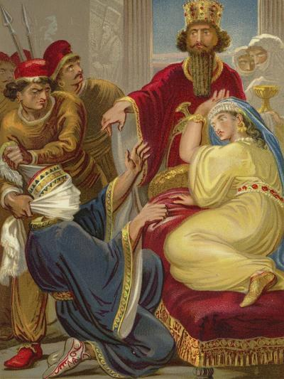 Haman Asking His Life of Queen Esther--Giclee Print