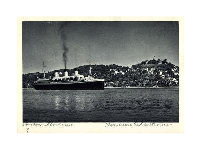 Hamburg Altona Blankenese, HSDG, Cap Arcona, Dampfer--Giclee Print