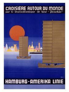 Hamburg America Orient Oceanline Poster