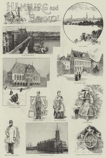 Hamburg and Bremen--Giclee Print