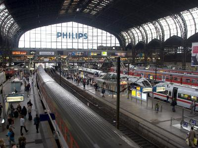 Hamburg Central Train Station, Hamburg, Germany-Yadid Levy-Photographic Print