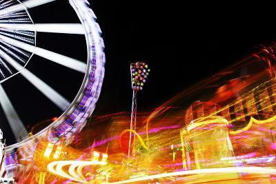 Hamburg Dom, Carousel, Amusement Ride, Motion, Dynamic-Axel Schmies-Photographic Print