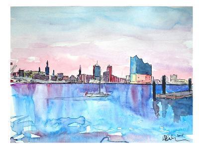 Hamburg Harbour City Elbphilharmonie-M Bleichner-Art Print