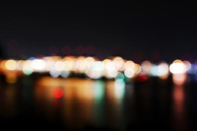 Hamburg Harbour in the Evening, Lights, Hamburg, Germany, Europe-Axel Schmies-Photographic Print
