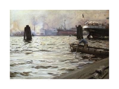 Hamburg Harbour-Anders Zorn-Premium Giclee Print